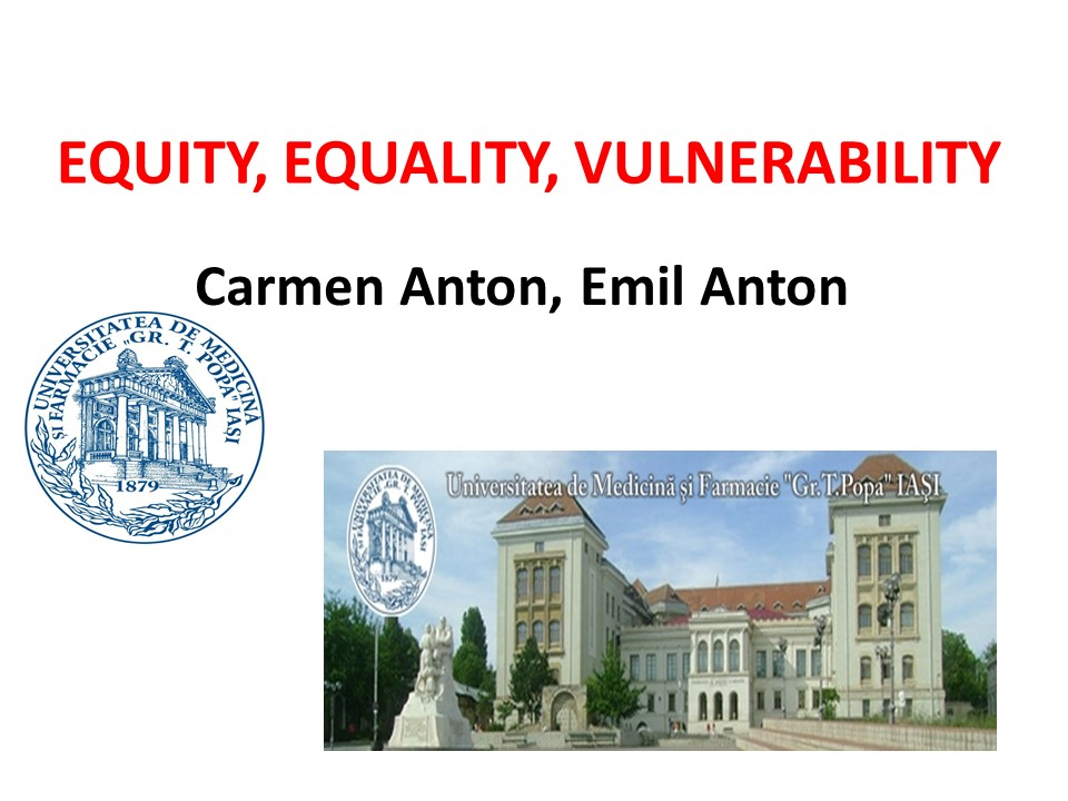 Equity, equality, vulnerability